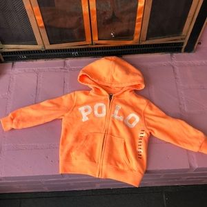 Toddler Polo Zip Up Hoodie